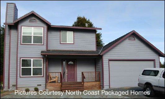 Picture Courtesy North Coast Packaged Homes - Front View of Emerald