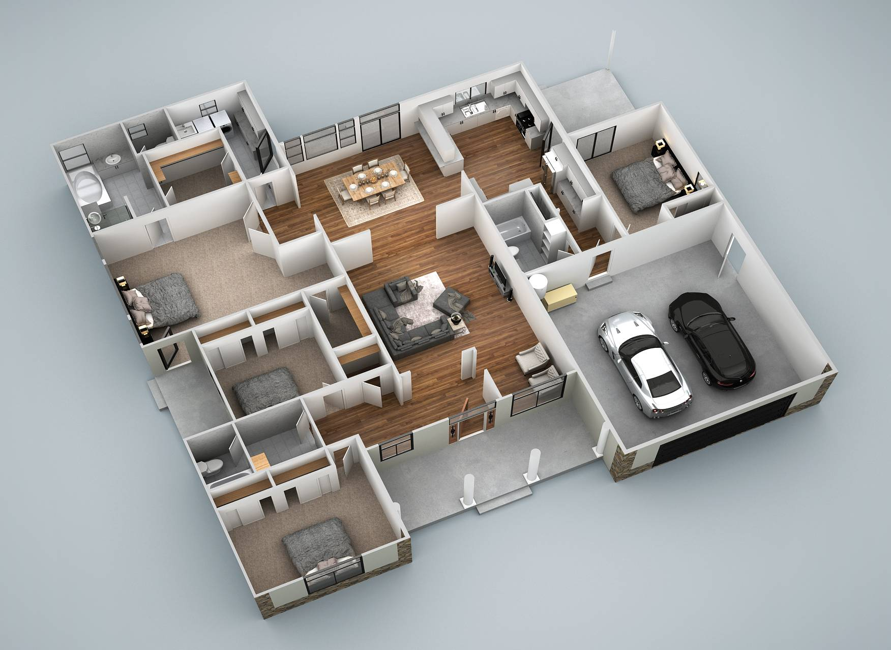 springfield 3d ground floor plan view revised 2